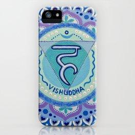 Throat Chakra Mandala (Blue) iPhone Case