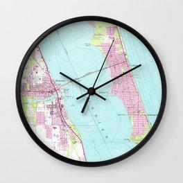 Vintage Map of Melbourne Florida (1949) Wall Clock