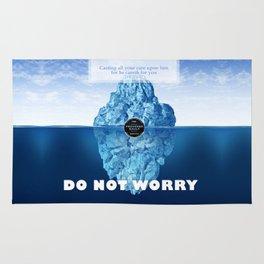 1 Peter 5:7 Worry Rug