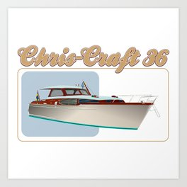 chris craft tee Art Print