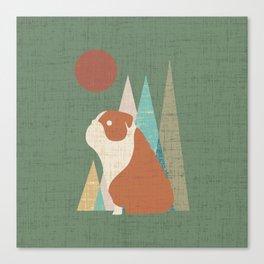 Waiting for you English Bulldog Canvas Print