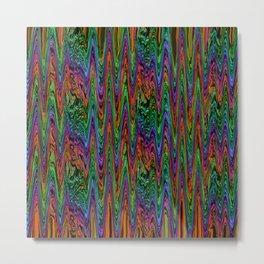 Neon Waves Metal Print