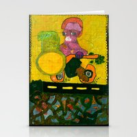 motorcycle Stationery Cards featuring Motorcycle  by Vera A. Fehér