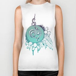 Snake Spirit (Turquoise) Biker Tank
