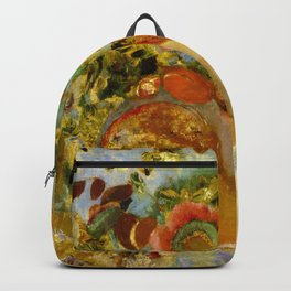 "Odilon Redon ""Two Young Girls among Flowers"" Backpack"