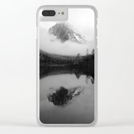 Black and White Sichuan Mountains China Clear iPhone Case