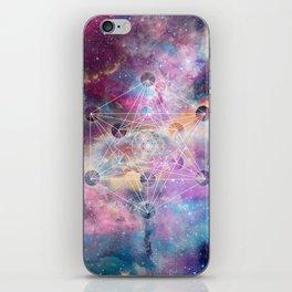Watercolor and nebula sacred geometry  iPhone Skin