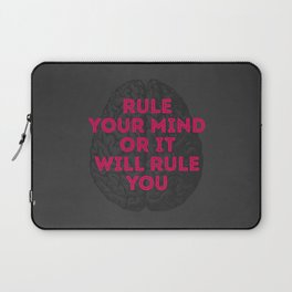 Rule Your Mind Laptop Sleeve