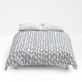 Hand Knit Zoom Grey Comforters
