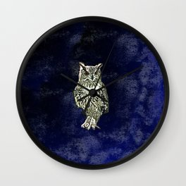 Owl has  good eye-sight, insight, and foresight, in his own words. Wall Clock