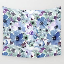 FLOWERS WATERCOLOR 20 Wall Tapestry
