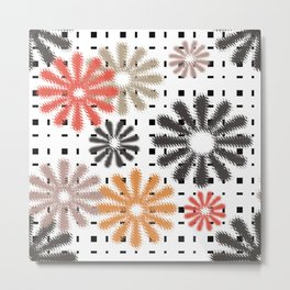 Abstraction. Colorful daisies background. Metal Print