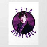 wtnv Art Prints featuring Sherlock: WTNV AU by Paris Noonan