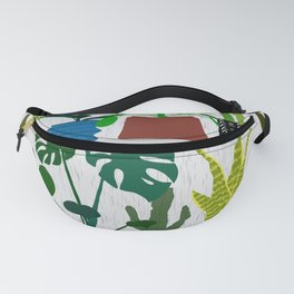 Plants on the Shelf in Gray + White Wood Fanny Pack