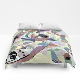 Smooth Fox Terrier Denim Colors Comforters