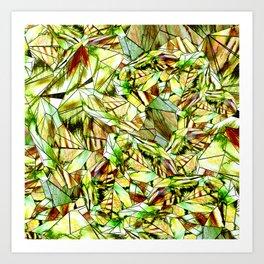 Crystal Golden Yellow Emerald Gems Art Print