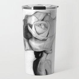 The woman with the head of a rose - Christy Turlington Travel Mug