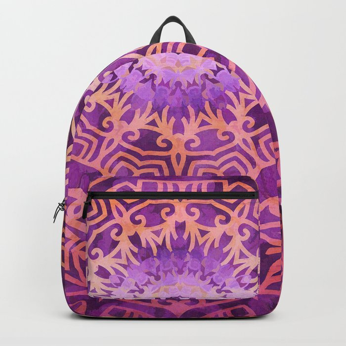 Mandala Pink Night Backpack