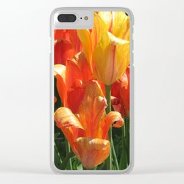 Orange and Yellow Tulips Clear iPhone Case