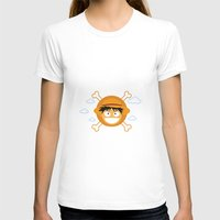 luffy T-shirts featuring Captain Monkey D. Luffy by ARI RIZKI