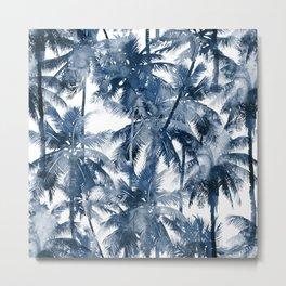 Blue palm trees Metal Print