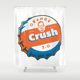 Denver Bronco Orange Crush Shower Curtain