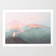 Pastel Volcano Art Print