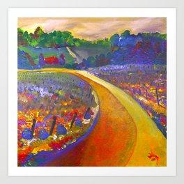 The Road to Chateau Chantal Art Print
