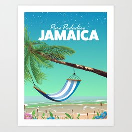 'Pure Paradise' Jamaica travel poster Art Print