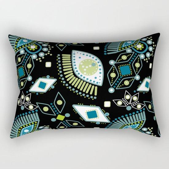 Ethnic pattern . Eyes . Rectangular Pillow