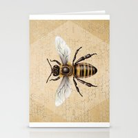bee Stationery Cards featuring Bee by Paper Skull Studios