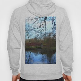 Deserted Old River Boathouse Hoody
