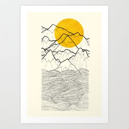 The cliff waves Art Print