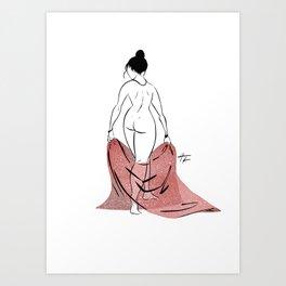 WOMAN 56 Art Print