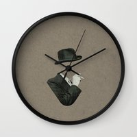 smoke Wall Clocks featuring Smoke by Lerson