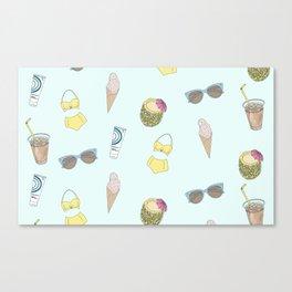 Fun Summer Essentials Canvas Print