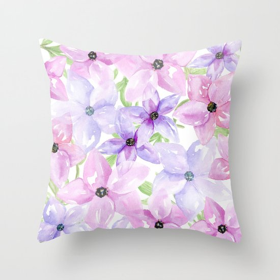 clematis vines Throw Pillow