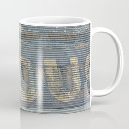 Warehouse District -- Rustic Country Chic Abstract with Letters Coffee Mug