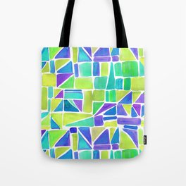 Watercolour Shapes Lemon Tote Bag