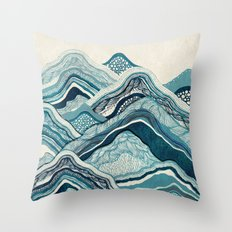 Blue Hike  Throw Pillow