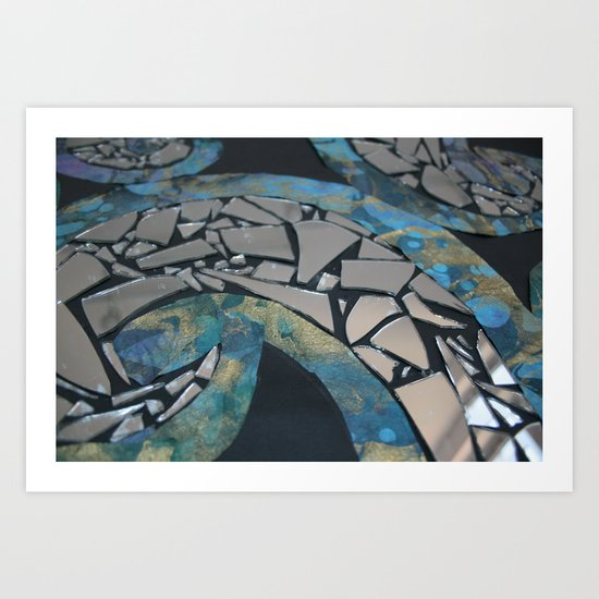 REFLECTIVE RYTHM Art Print