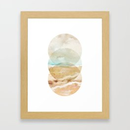 Abstract Beach - Circle Print Framed Art Print
