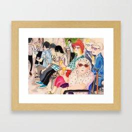 summer in Cambridge Framed Art Print