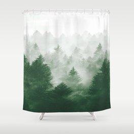 Foggy Woods III Shower Curtain