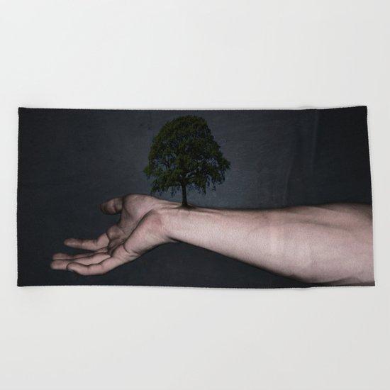 Nature inside me Beach Towel
