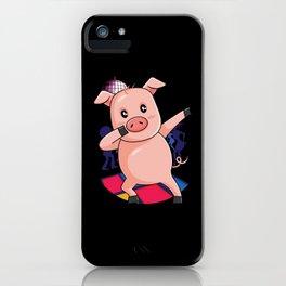 Dabbing Pig   Dancing Farm Animal Pink Piglet iPhone Case