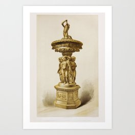 Cradle carved in boxwood from the Industrial arts of the Nineteenth Century (1851-1853) by Sir Matth Art Print