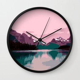 Maligne Lake - Cananda Wall Clock