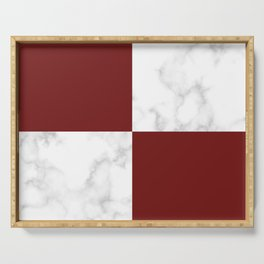 marble and red tiles Serving Tray