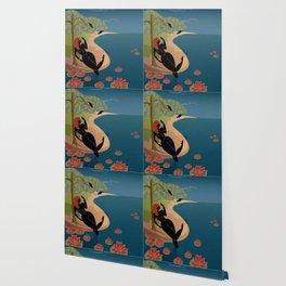 Kuan Yin Beneath a Willow Wallpaper